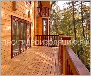 Гидроизоляция деревянной террасы