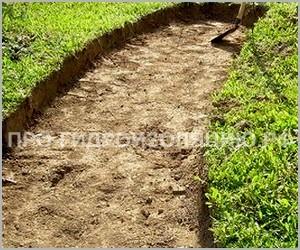 Подготовка основания под тропинку в саду