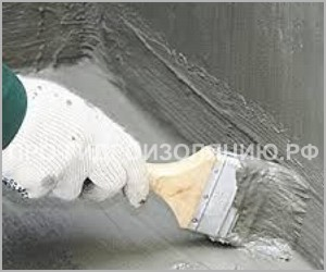 Нанесение цементно-полимерной гидроизоляции