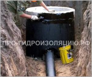 Гидроизоляция колодцев канализации изнутри, снаружи