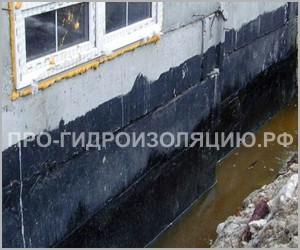 Гидроизоляция стен подвала от грунтовых вод