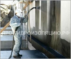Нанесение жидкого стекла распылителем